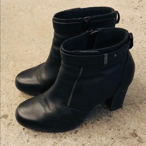 Clarks Black Ankle Boots